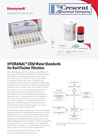 HYDRANAL® CRM Water Standards
